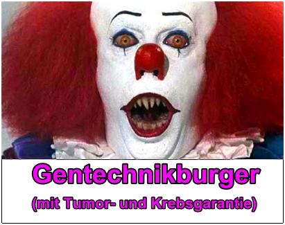Mc Donalds Genburger mit Tumor- und Krebsgarantie
